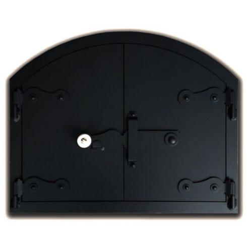 Kemence ajtó íves 50x40 cm, tévővel