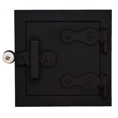 Tűzhely tüzelő vagy kemence hamuzó ajtó 26x26 cm