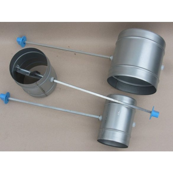 Légtömör zárású pillangószelep hosszított tengellyel, nem hőálló, D 125 mm