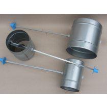 Légtömör zárású pillangószelep hosszított tengellyel, nem hőálló, D 150 mm