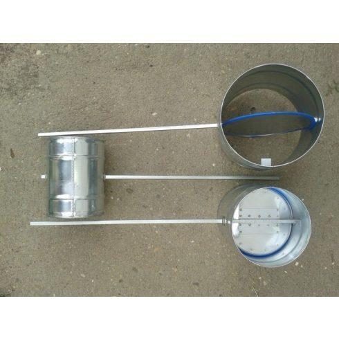 Légtömör zárású pillangószelep hosszított tengellyel, hőálló, D 125 mm