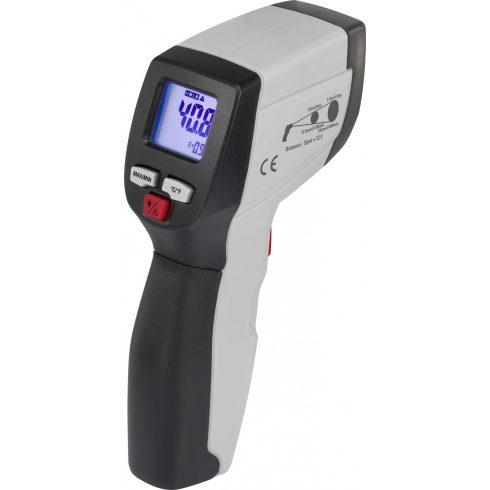 Infra hőmérő, kemence hőmérő -50 °C-tól +500 °C-ig, 8 : 1 optika, kemence és más érintés nélküli gyors mérésekhez