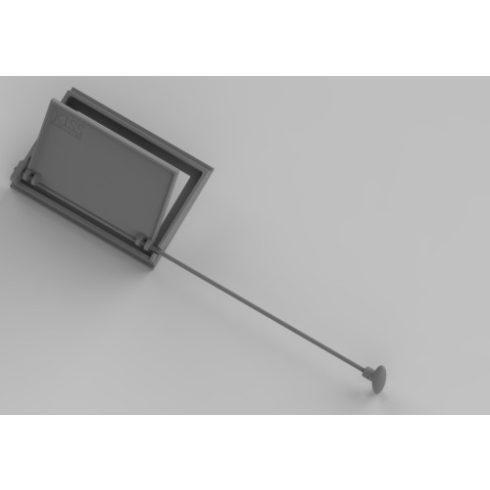 Föstelzáró csappantyú szögletes 30x21 cm, öntvény