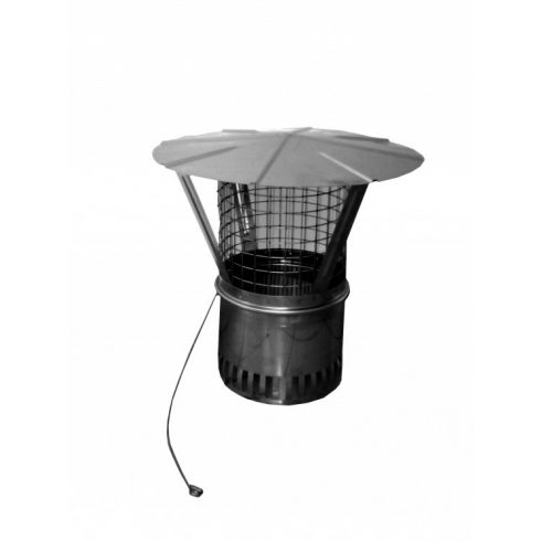 Univerzális esővédő sapka védőhálóval (Ø14 cm-es kéményátmérőhöz) - más méretben is