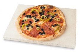 Pizzakő, pizzasütő samottlap, kenyérsütő lap 40x30x2,5 cm
