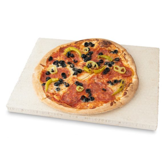 Pizzakő, pizzasütő samottlap, kenyérsütő lap 40x30x2,5 cm (lapát nélkül)