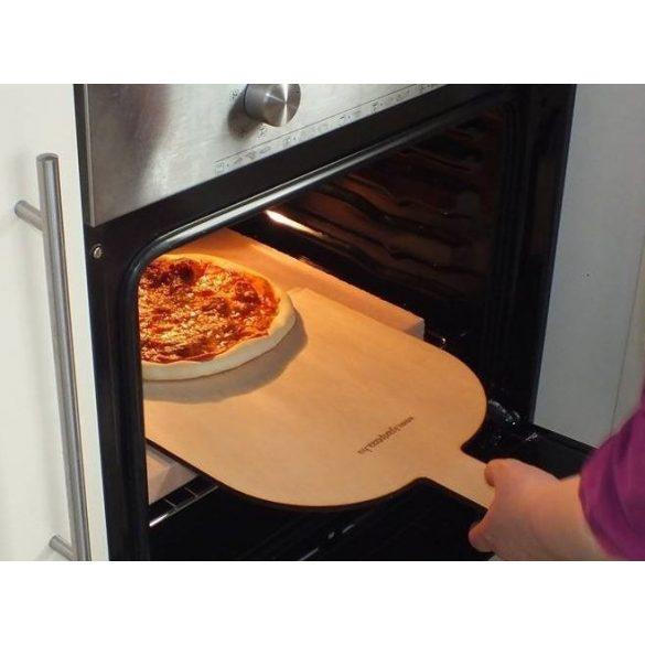 Pizzakő, pizzasütő samottlap, kenyérsütő lap EXTRA 40x30x3 cm + pizzalapát