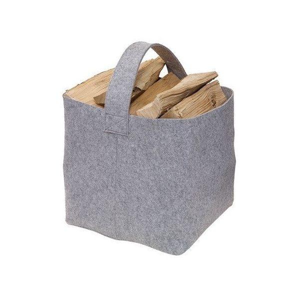 Filc tűzifa táska, világosszürke