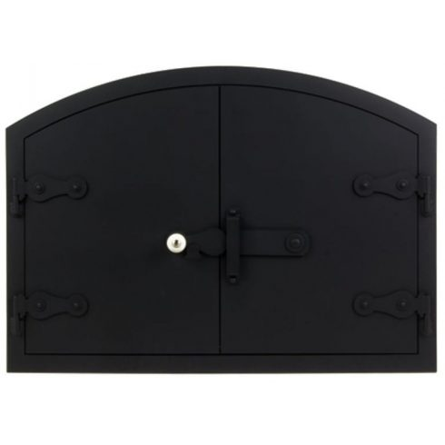 Kemence ajtó íves 70x50 cm, tévővel