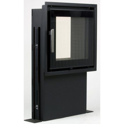 Külső levegőbevezetéses, dupla üveges cserépkályha ajtó 400x385 mm
