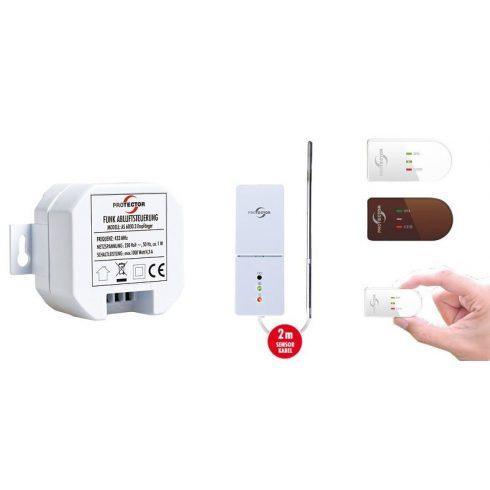 Vezeték nélküli elszívás vezérlő hőelemmel, beépíthető AS 6030.3 biztonsági retesz