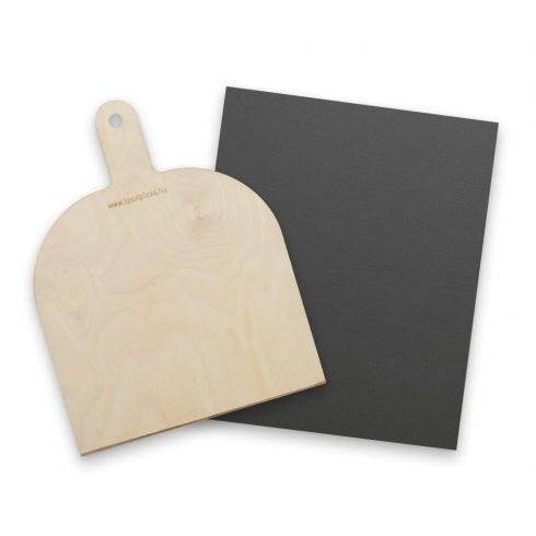 Kenyér és pizzasütő vas 40x33x0,6 cm + pizzalapát